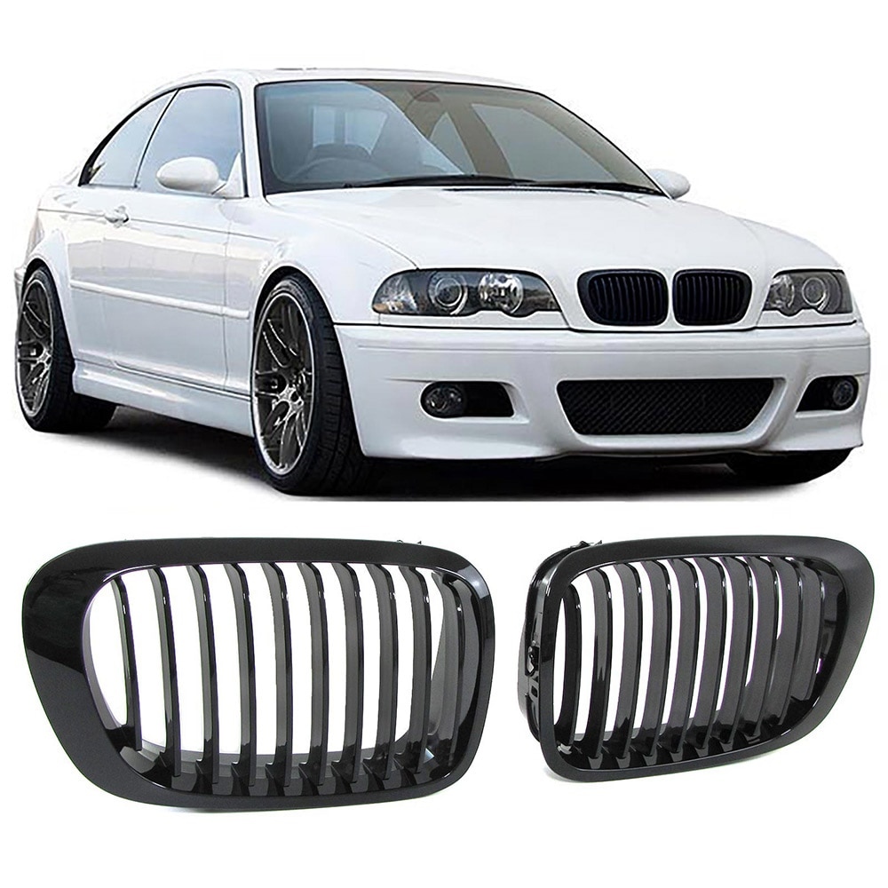 Kiiltävänmustat munuaiset (etumaski) BMW E46