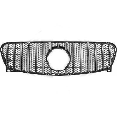 Glossy black/Chrome Radiator grille insert GT-Optics