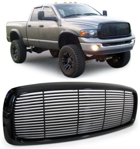 Koko musta etumaski Dodge Ram