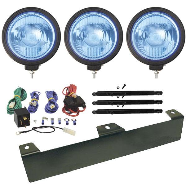 3 kpl Swedstuff Lisävalo LED sininen linssi 9