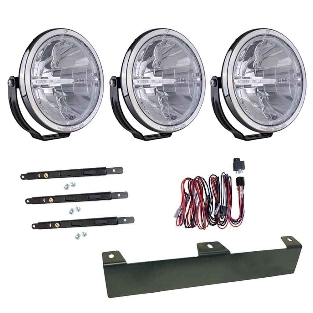 3-pakkaus lisävalo Ambassador 9´ LED - SLD