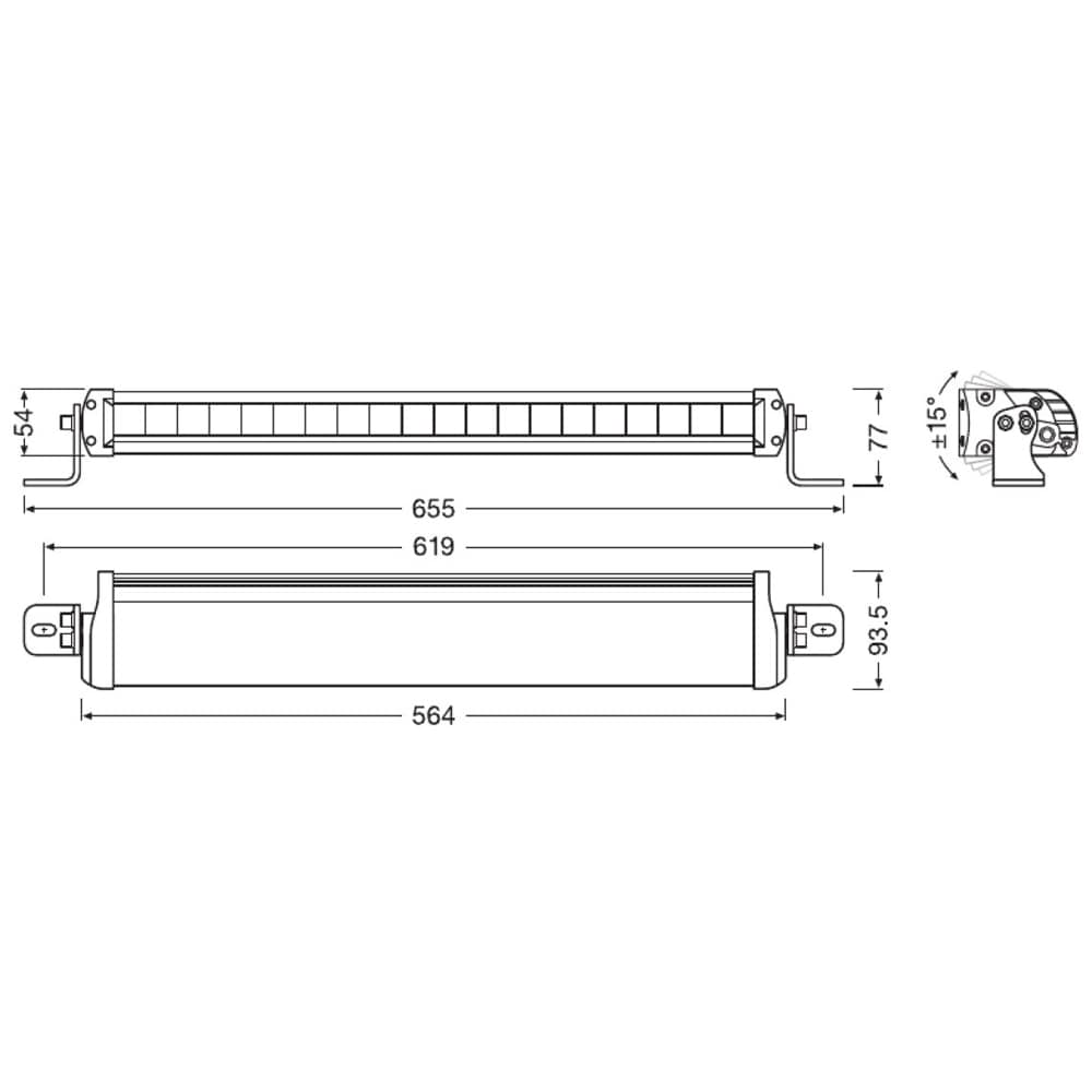 Lightbar FX500-CB SM Combo
