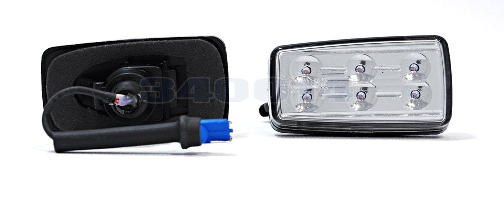 LED kromattu vilkkuvalot
