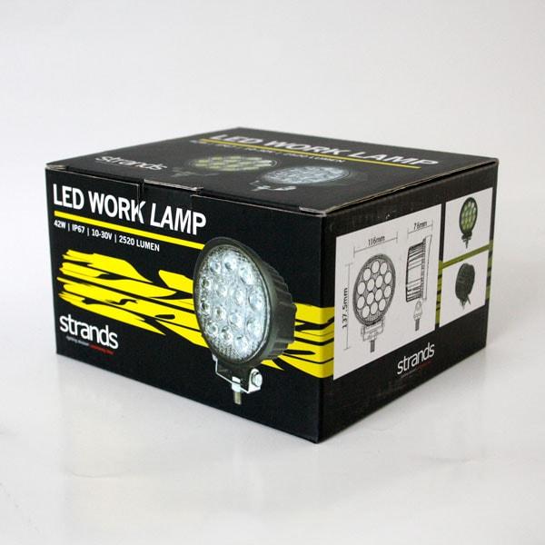 LED Arbetslampa 42W Rund