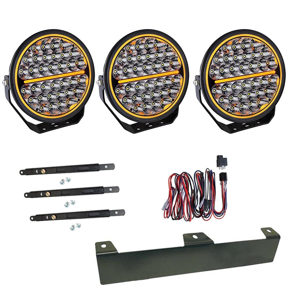 3-pakkaus  Lisävalo  Siberia Night Ranger 9´ LED - SLD