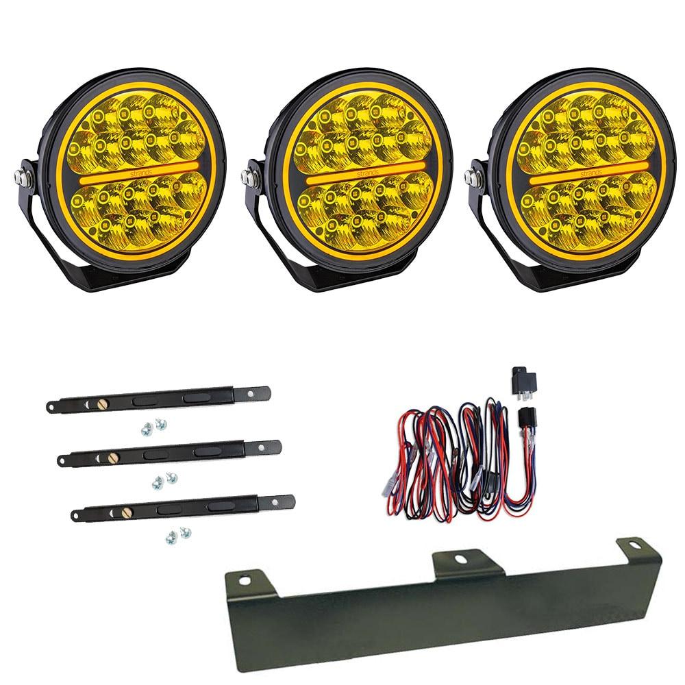 3-pakkaus Lisävalo Siberia Bush Ranger 7´ LED - SLD