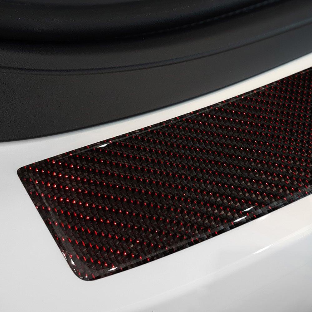 Puskurin suoja pelti hiilikuitu med röda detaljer till BMW F36 4D