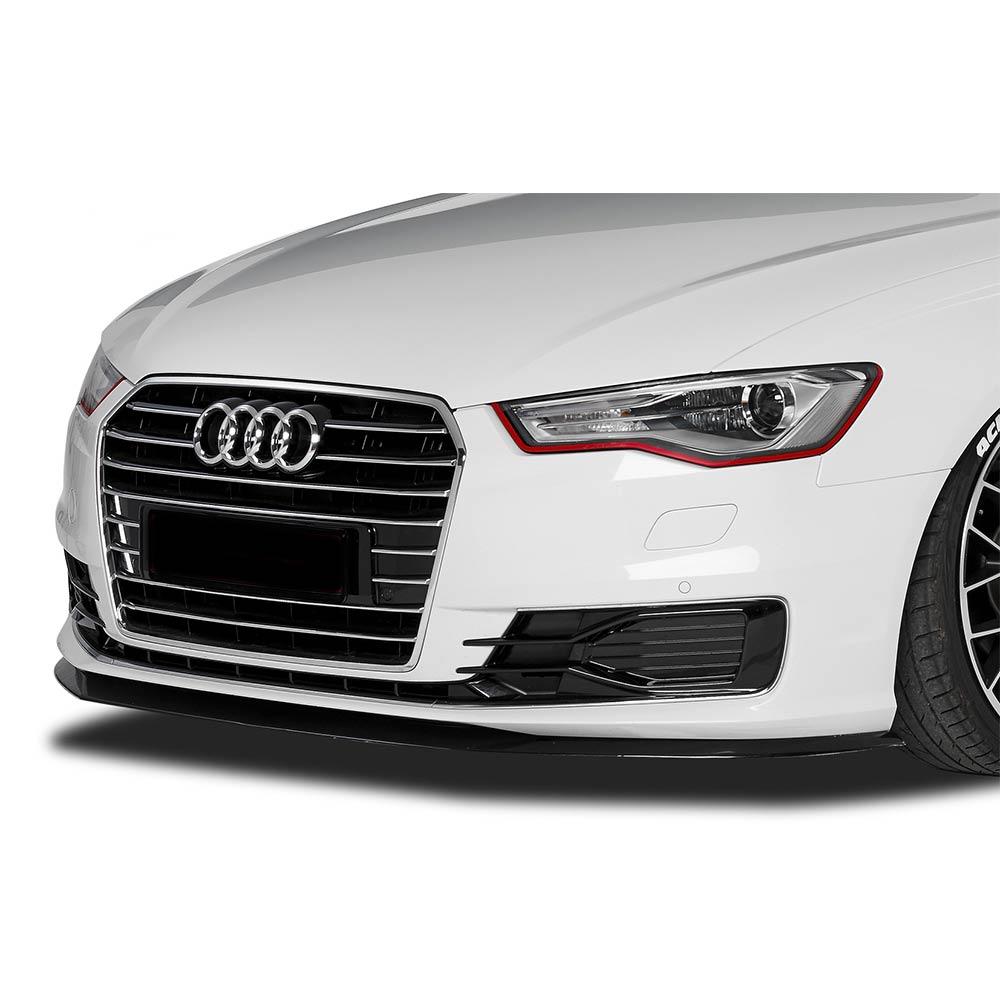 Musta etupuskurin lippa (cupSpoileri ) eteen  Audi A6 4G