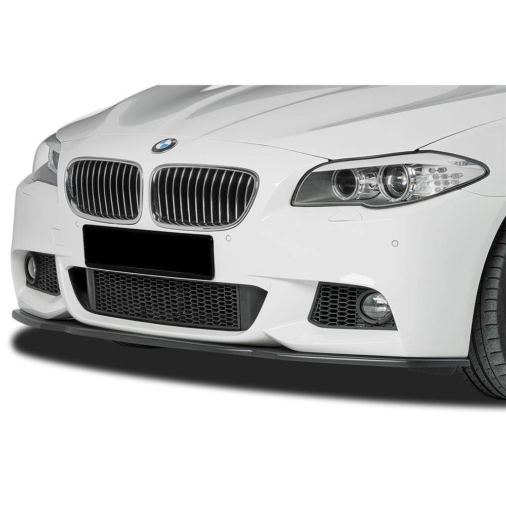 Kiiltävän musta etupuskurin lippa (cupSpoileri ) eteen  BMW F10/F11