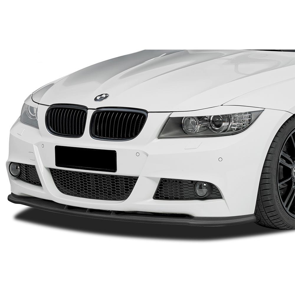 Kiiltävän musta etupuskurin lippa (cupSpoileri ) eteen  BMW E90/E91