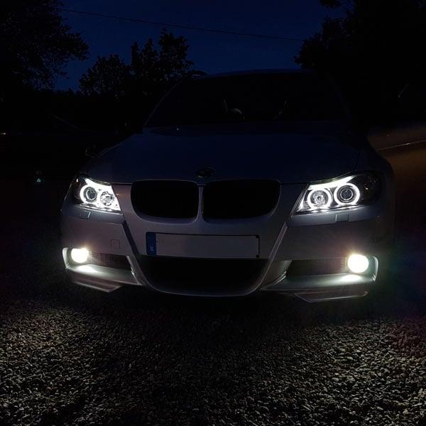 Mustat LED angeleyes Bmw E90/E91