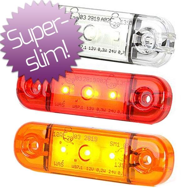 LED Huomiovalo / Sivuhuomiovalo 12-24V