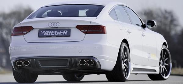 Rieger diffusor Audi A5 Sportback kolfiberlook (Ej Face-lift/S-Line)