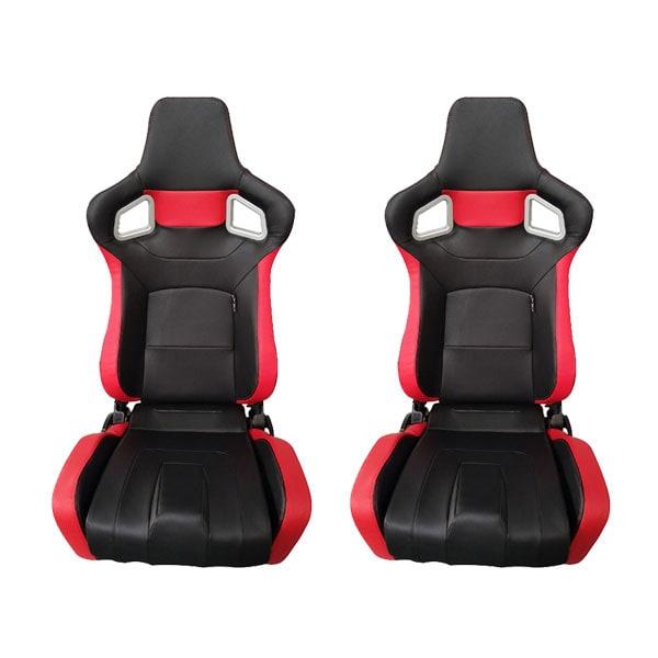 Sporttituolit  TYP RS6 Musta /Punainen