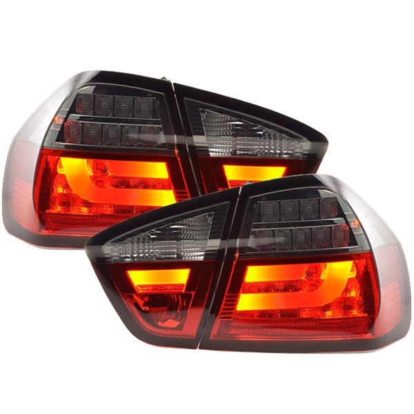LEDI Takalamput Punainen Musta BMW E90