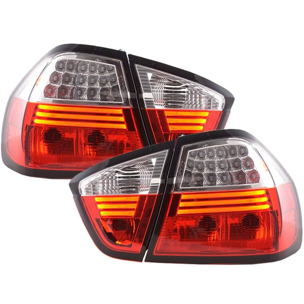 LEDI Takalamput Punainen Valkoiset BMW E90