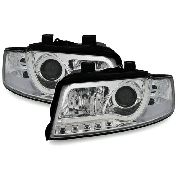 Ajovalot LED kromattu Audi A4