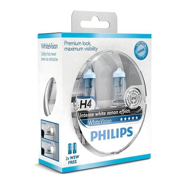 H4 Philips Valkoinen Vision Intense Xenon