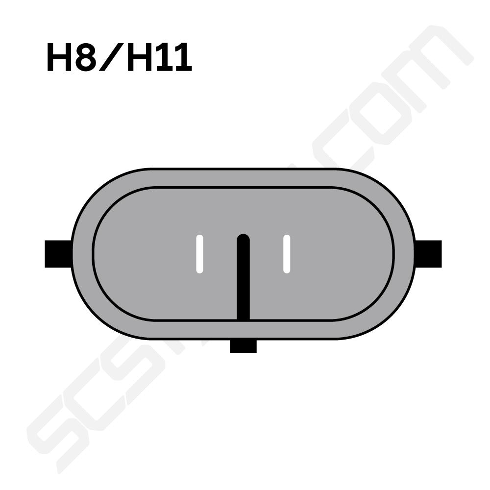 H11 LED Sumuvalot 12V & 24V