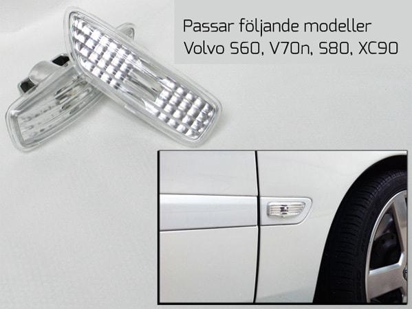 Etulokasuoja vilkut kirkaslasista Volvo